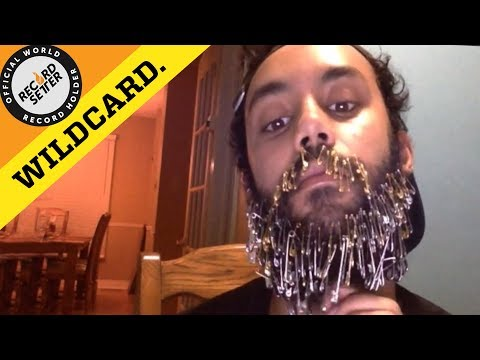 Most Safety Pins Fit In Beard At Once!