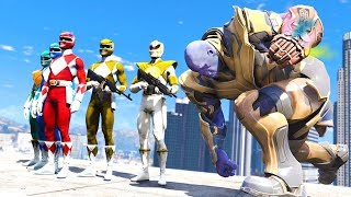 Video POWER RANGERS BATTLE THANOS!!! (GTA 5 Mods) download MP3, 3GP, MP4, WEBM, AVI, FLV Oktober 2018