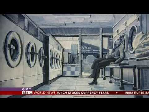 Denim art. The brilliant Ian Berry talks to BBC World News about his work