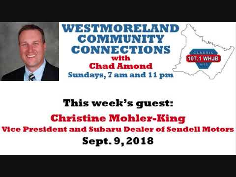 Westmoreland Community Connections: Sept. 9, 2018