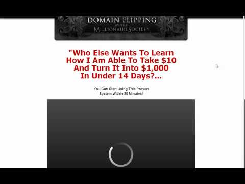 Domain Flipping by the Millionaire Society.