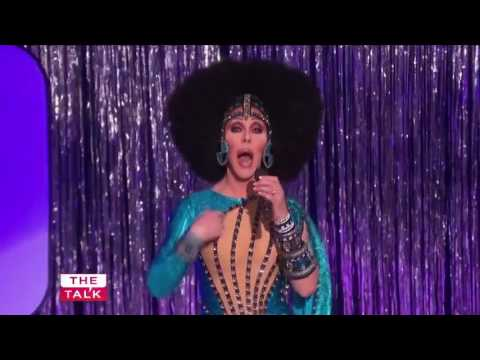 Chad Michaels on The Talk as Cher performing for Cher!  02 28 17