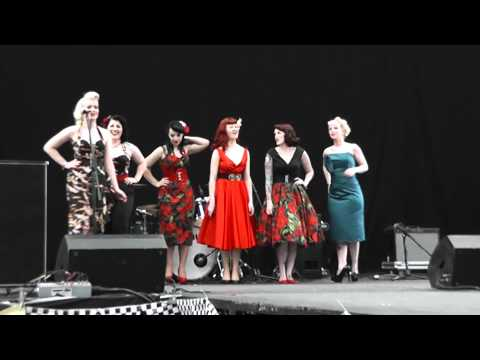 1950s PINUP MODELS FASHION  SHOW Americana 2012