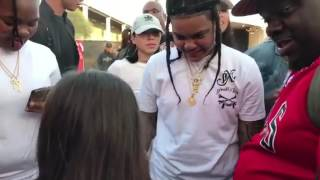 Young MA let's A 12 Years Old Girl Rap For Her 🔥🔥