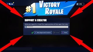 Fortnite Support A Creator Code!