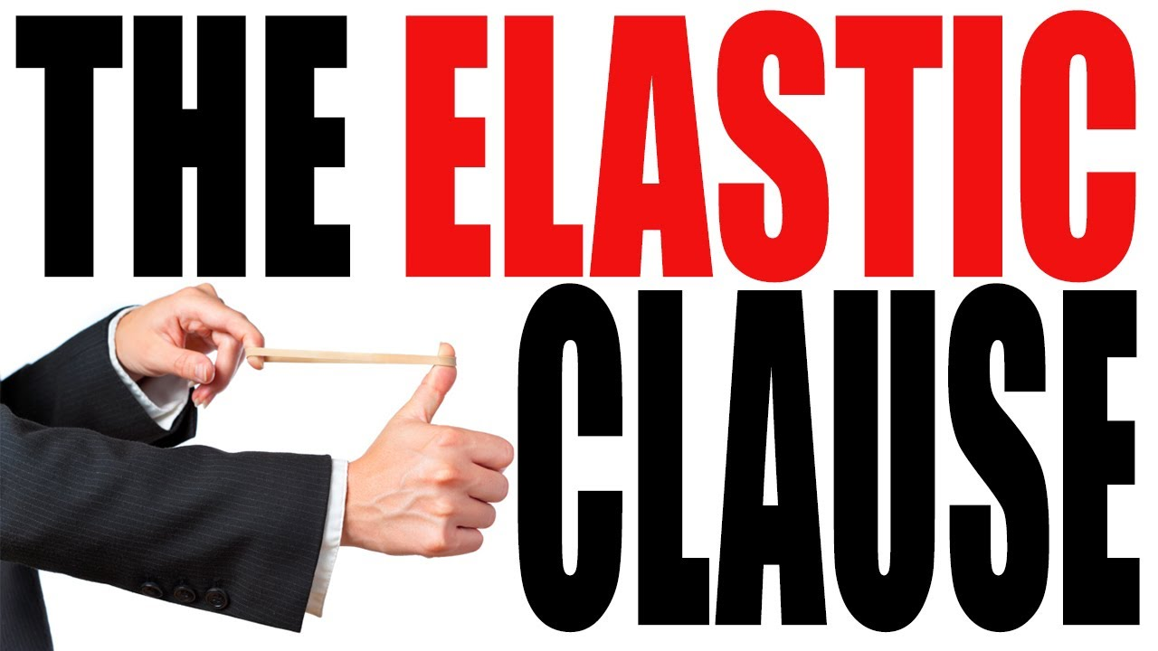 definition for elastic clause