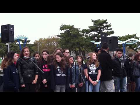 Susan E Wagner theater sings at the autism walk