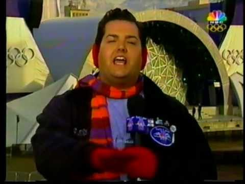 Ross the Intern Wears Earbags in 2002 at the Winter Olympics