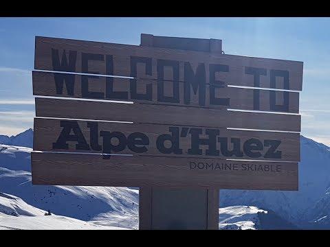 Alpe d'Huez Motorhome Ski Aire Tour.