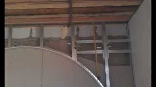 монтаж декоративной стены с аркой в спальне(, 2014-03-30T12:31:07.000Z)