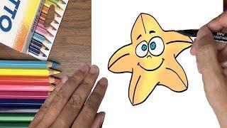 Dạy bé tập vẽ con sao biển