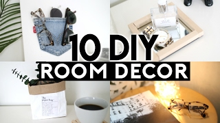 10 DIY Room Decor 2017! (Tumblr Inspired) Organization & Trendy Recycled Items!