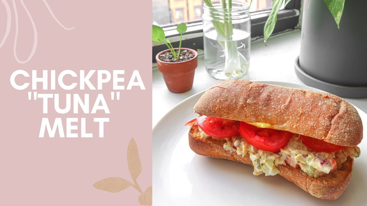 "How To: Vegan Chickpea ""Tuna"" Melt Recipe"