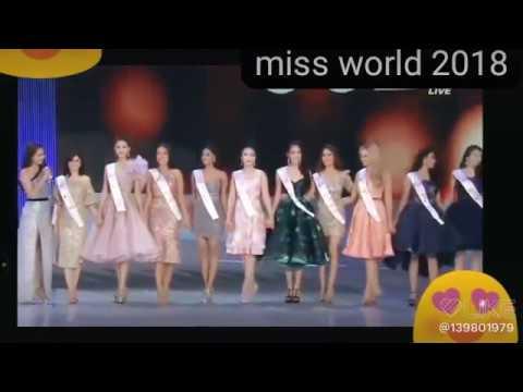 Janntul Ferdous oishee in Miss world 2018 final round Elemination