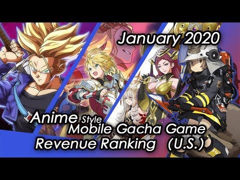 (U.S) January 2020 Anime Gacha Mobile Game Revenue Tier List