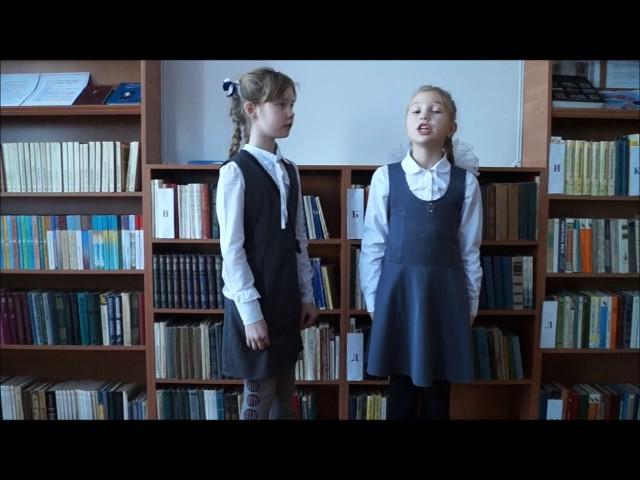 Изображение предпросмотра прочтения – «Никитина Валерия и Прошева Юлия» читает произведение «Ворона и Лисица» И.А.Крылова