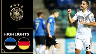 Gündogan scores twice from distance | Estonia vs. Germany 0-3 | Highlights | Euro Qualifier