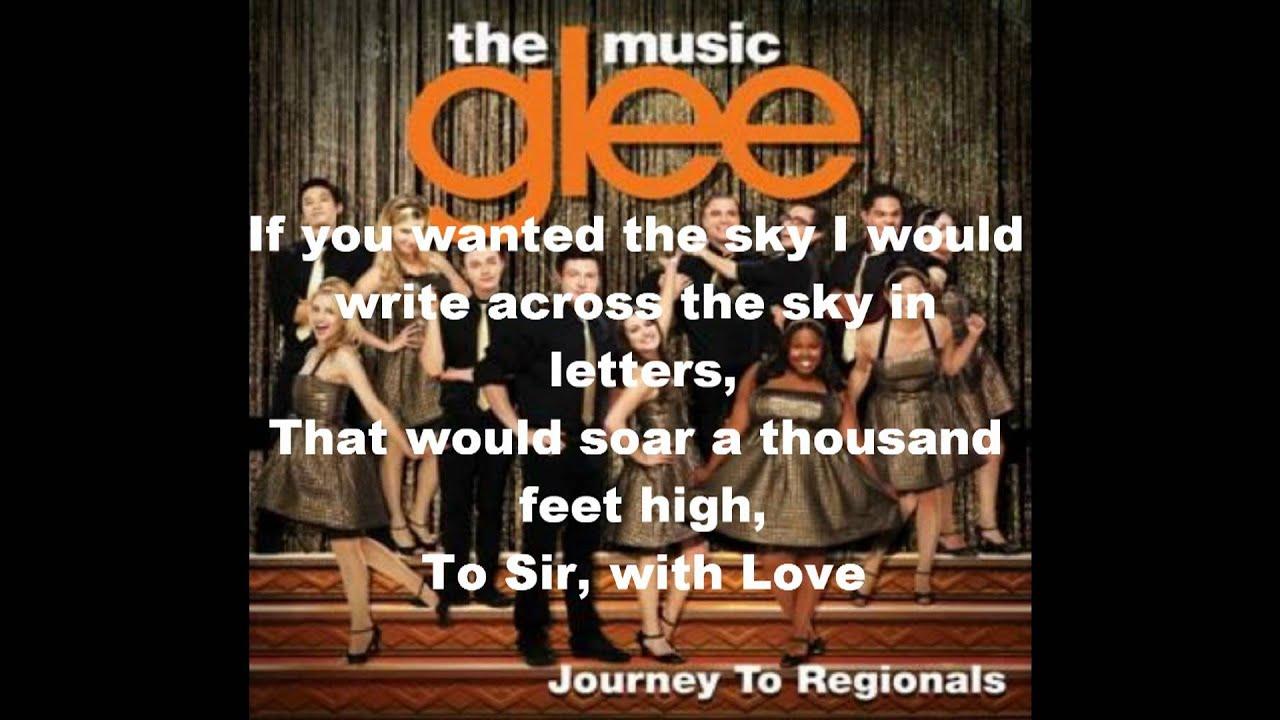 To Sir With Love Glee Lyrics - YouTube