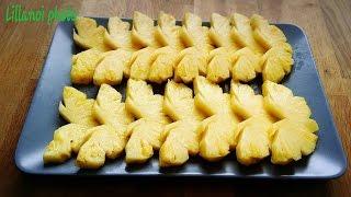 How to cut a pineapple # วิธีปอกสับปะรดให้เป็นรูปผีเสื้อ แบบง่ายๆ