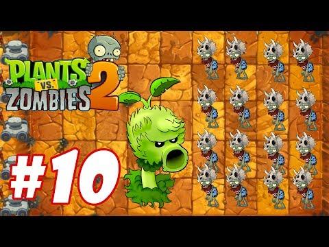 Hoa quả nổi giận 2 - Plants Vs Zombies 2 : Primal Peashooter đại chiến Jurassic Marsh #10