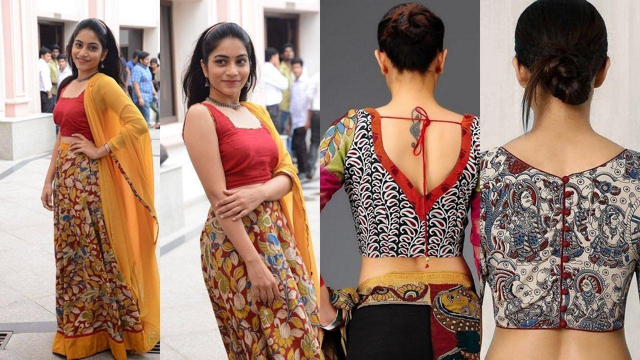 kalamkari blouses    kalamkari blouse designs    kalamkari kurtis - YouTube