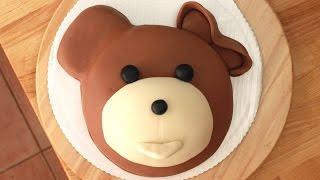 Miś Uszatek, Jak zrobić tort w kształcie misia? How to Make A Teddy Bear Cake Tutorial