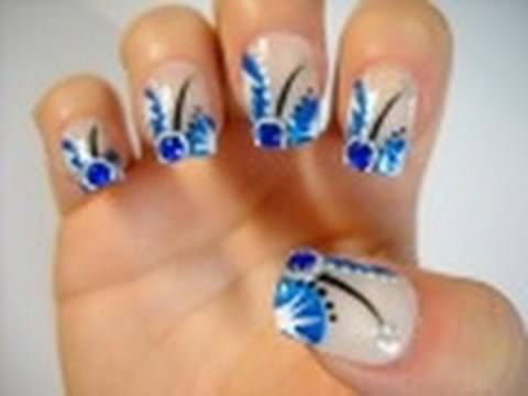 Light Blue Prom Nails Fashion Dresses