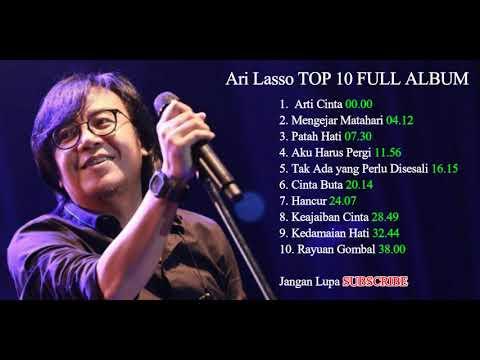 TOP 10 - Lagu Pop Indonesia Paling Populer - Ari Lasso FULL ALBUM