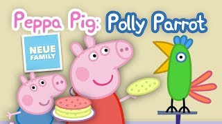 Teach Polly how to recite and give her treats in Peppa Pig Polly Parrot