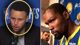 "Steph Curry Tells Reporter ""If Durant Wants To Leave WE DONT NEED HIM!"" & Kevin Is FURIOUS"