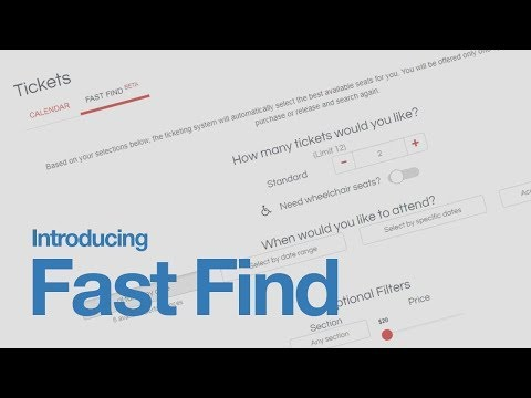 Here's How to Use Our New Fast Find Ticket Selector (The Kennedy Center)