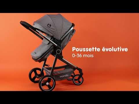 Poussette combinée GIULIA de Nania avec le siège auto BEONE 0+