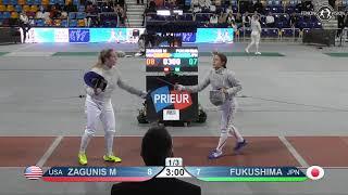 2019 xxx T64 31 F S Individual Orleans FRA WC RED FUKUSHIMA Shihomi  JPN  vs ZAGUNIS Mariel  USA