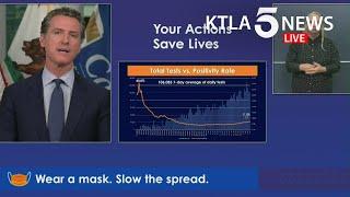 Coronavirus: Gov. Newsom addresses California's response to COVID-19 as cases continue to surge