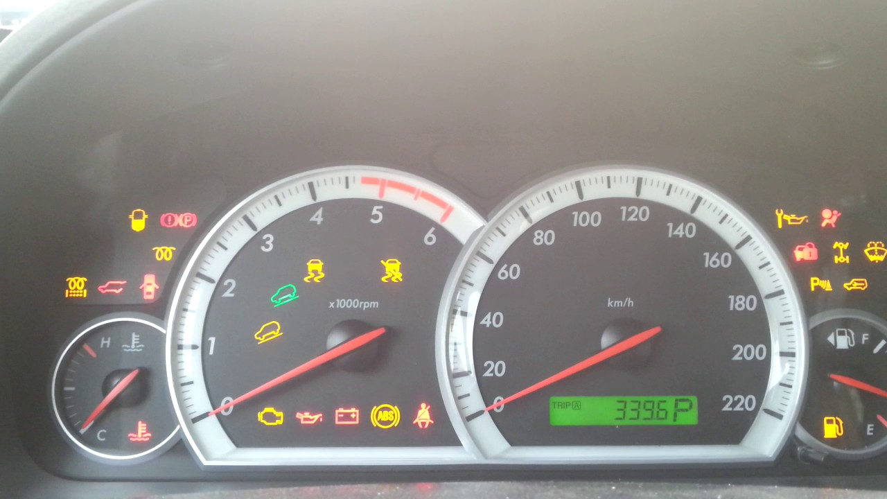 Chevrolet captiva 2010 dashboard symbols