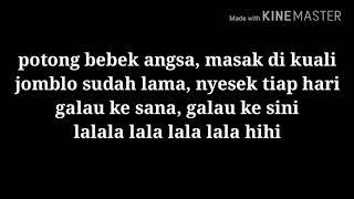 "Cover images Lirik lagu ""Potong Bebek Jomblo"" #Cita-Citata"
