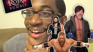 AJ Styles makes is WWE Debut / Triple H wins the Royal Rumble 2016 REACTION!!!!