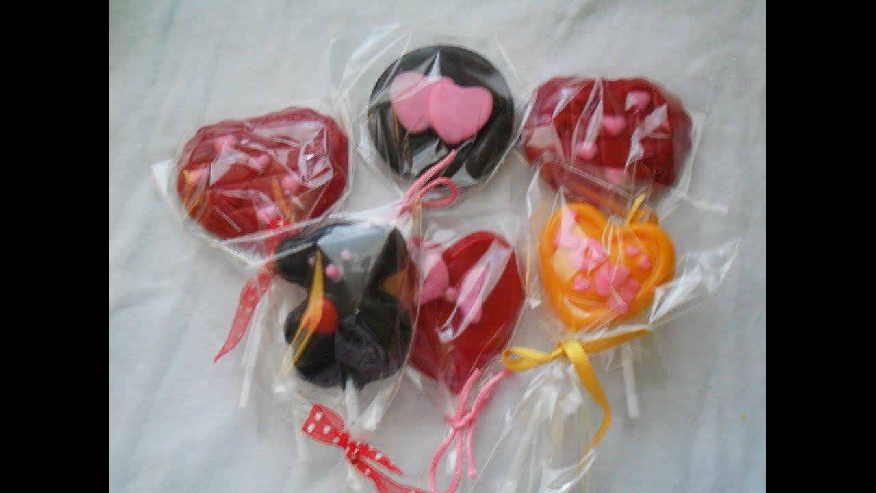 paletas de chocolate, un lindo detalle para el día de san valentin ...