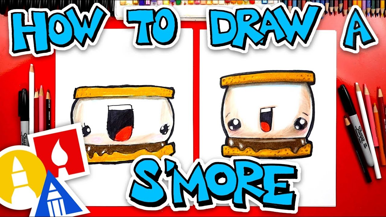 How To Draw A funny Smore