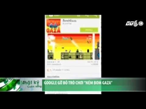 """VTC14_Google gỡ bỏ trò chơi """"Ném bom Gaza"""""""