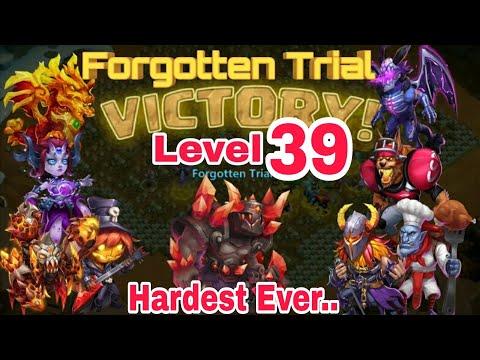 Forgotten Trial - Level 39 | Hero Set Up | Drop Point | Castle Clash