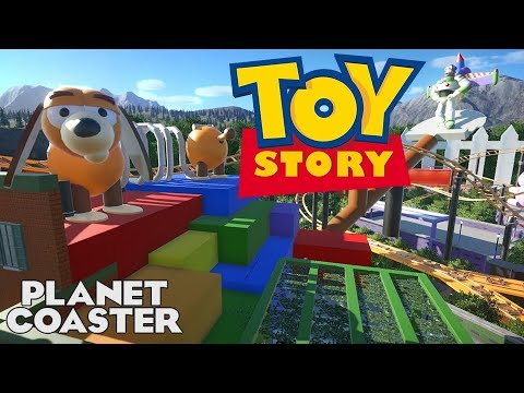 TOY STORY! Yard Chase Movie Coaster! Builder Entry 05 #PlanetCoaster