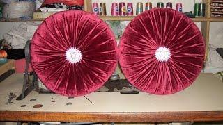 طرقة خياطة مخدة دائرية لزينة الصالون المغربي_ Method of sewing a pillow in the form of a circle