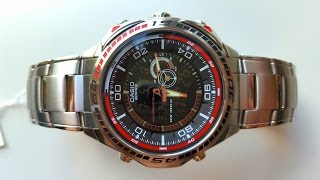 Огляд і параметри CASIO EDIFICE EFA-121D-1A (Review and setting)