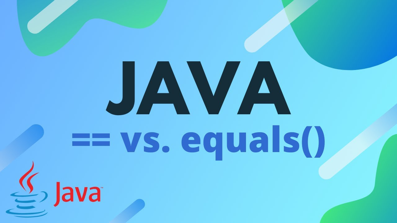 Java Tutorial - The Difference Between == and equals()