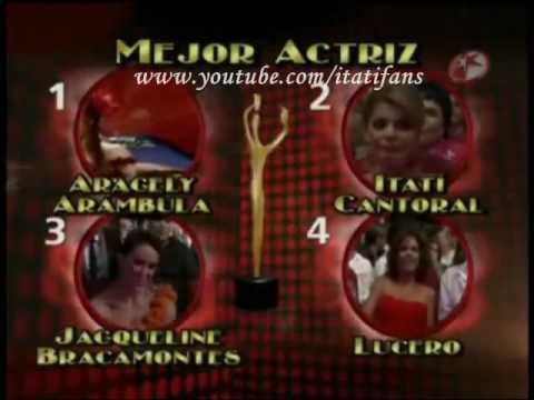 Itatí Cantoral ganadora del premio tvynovelas 2010