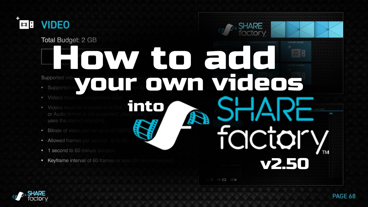 How to add your own videos from USB into SHAREfactory ™ 2 50 (Fix  I-Frame/Keyframe Intervals)
