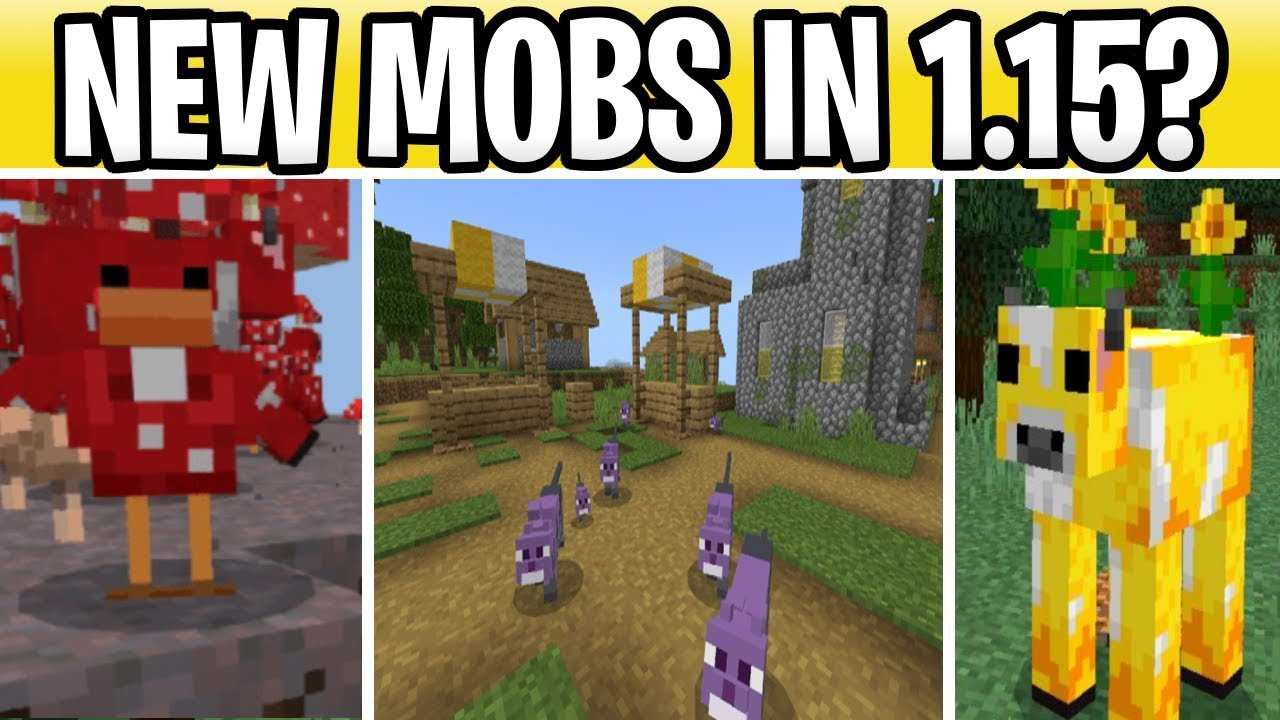 Minecraft 12.125 New Mobs Coming? Cluckshroom, Moobloom & Ender Cat!  Minecraft Earth Secrets