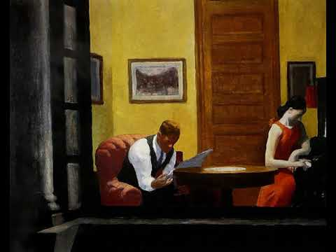 """E.Hopper – """"Room in New York"""" (Painting to 3d)"""