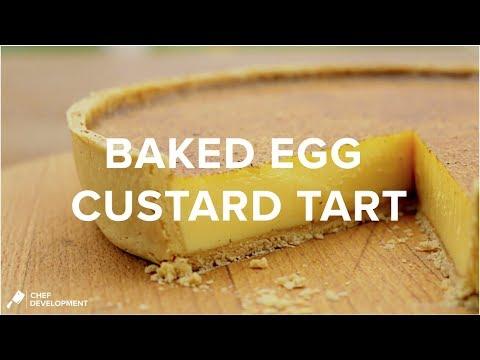 Baked Egg Custard Tart  (Egg Custard Tart) | Chef-Development